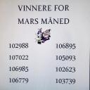 Vinnere for mars: